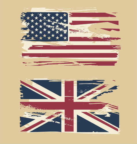 us and uk flag